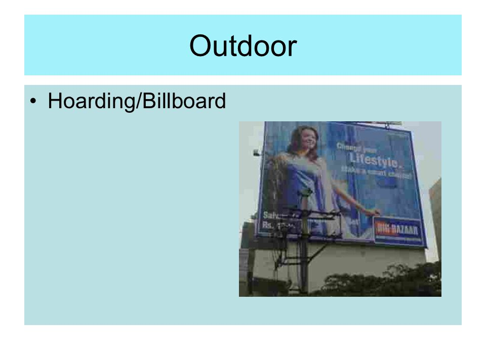 Outdoor Hoarding/Billboard