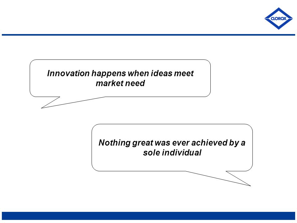 Innovation happens when ideas meet market need Nothing great was ever achieved by a sole individual