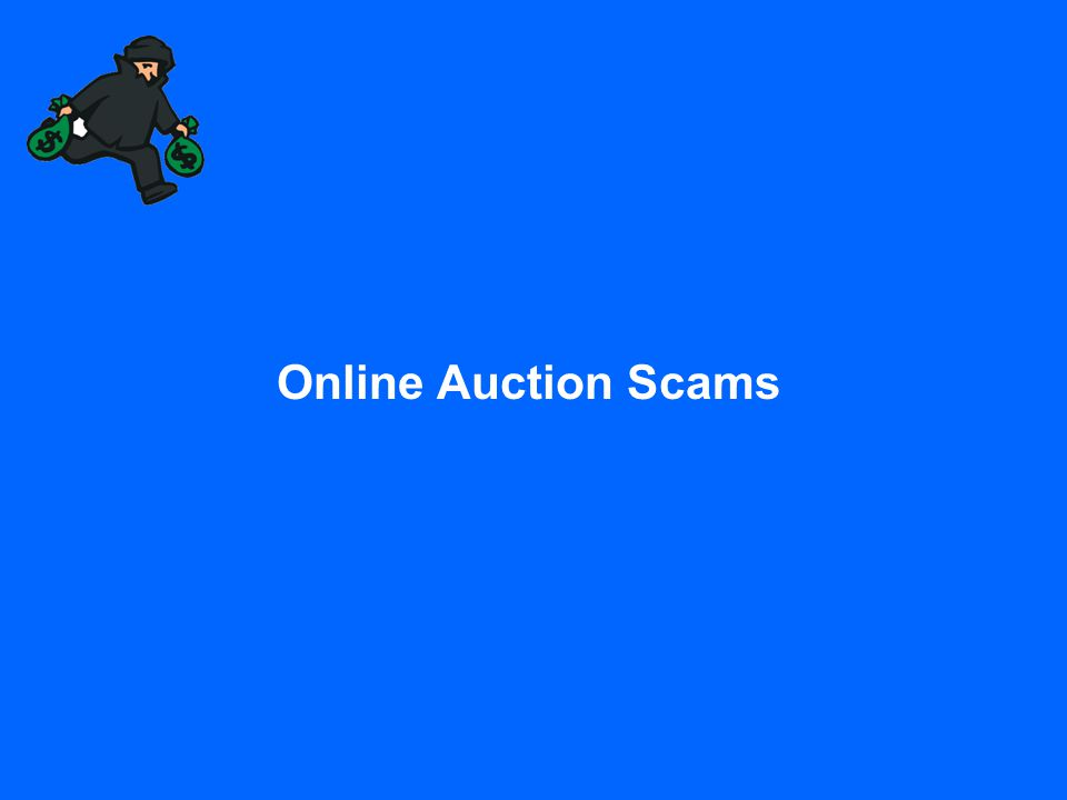 Online Auction Scams