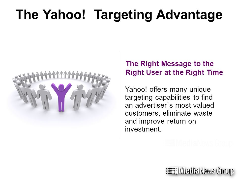 The Yahoo. Targeting Advantage The Right Message to the Right User at the Right Time Yahoo.