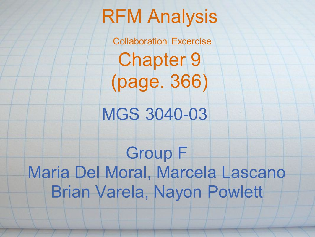 RFM Analysis: Rank suppliers (D.) The RFM analysis can be tweaked to rank suppliers: - R: How recently you used them.