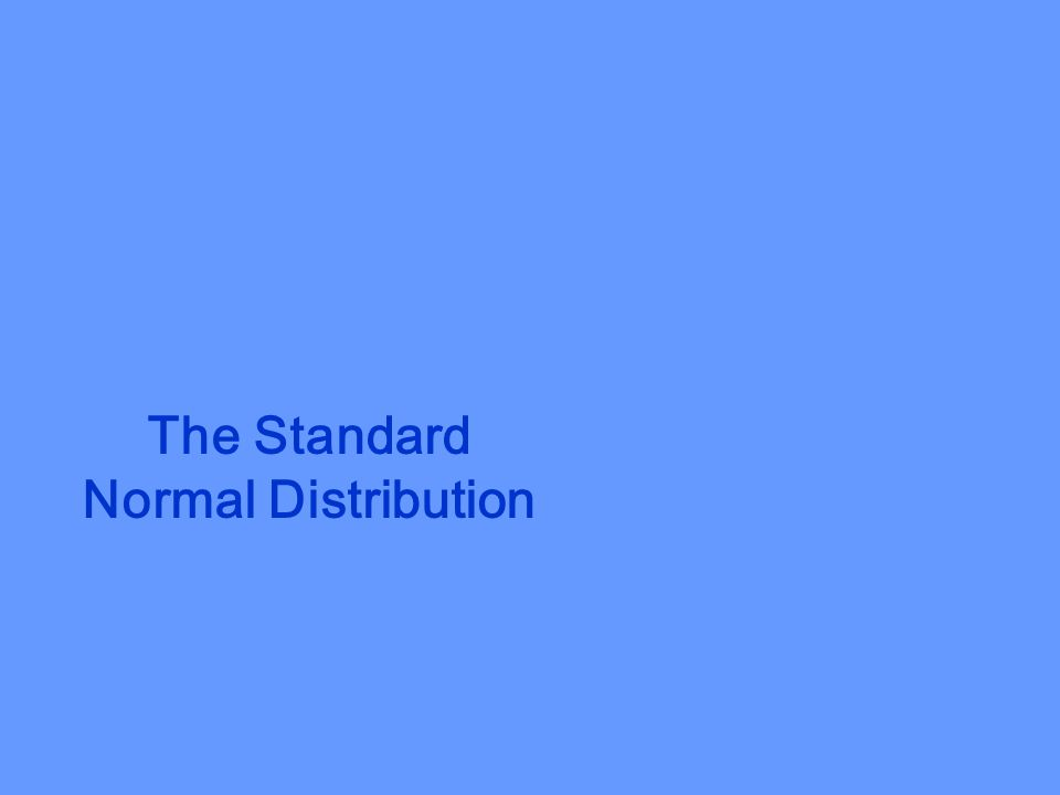 The Standard Score The standard score, or z-score, represents the number of standard deviations a random variable x falls from the mean.
