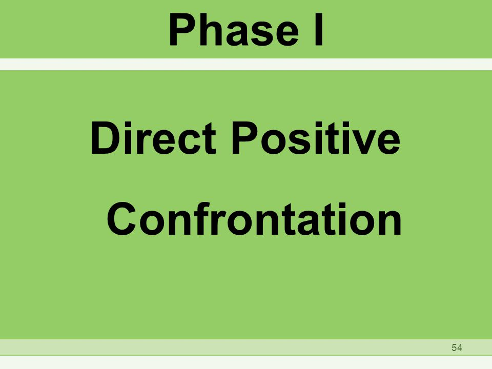 Phase I Direct Positive Confrontation 54