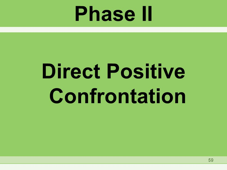 Phase II Direct Positive Confrontation 59