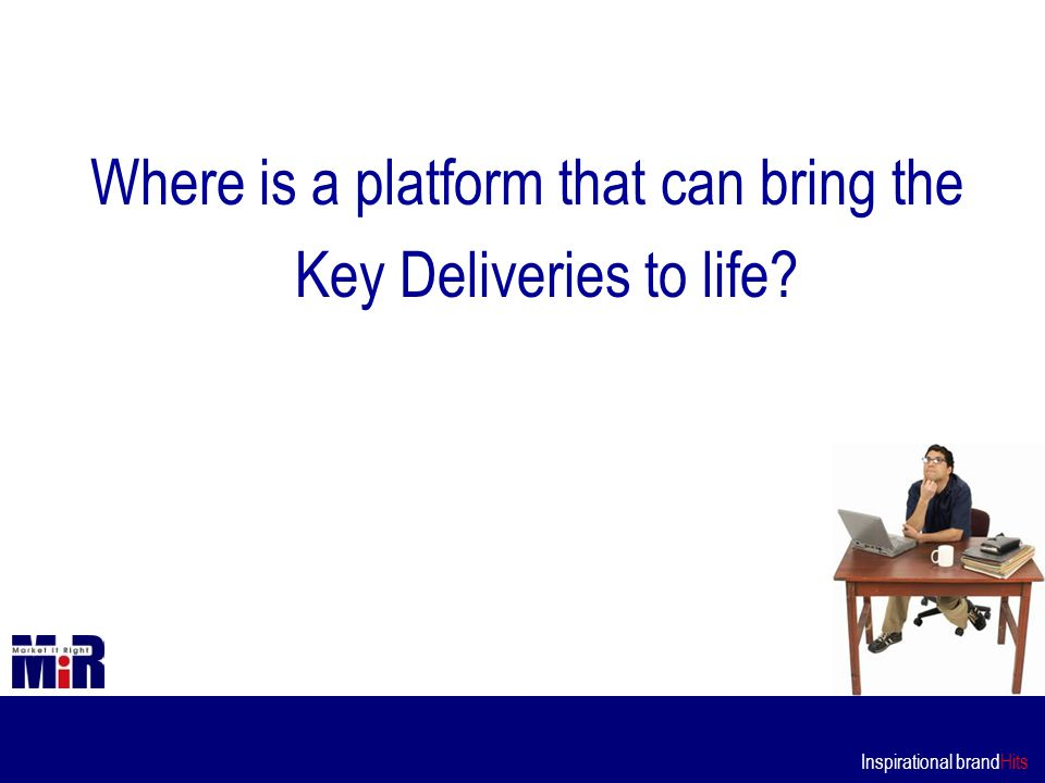 Inspirational brandHits Where is a platform that can bring the Key Deliveries to life