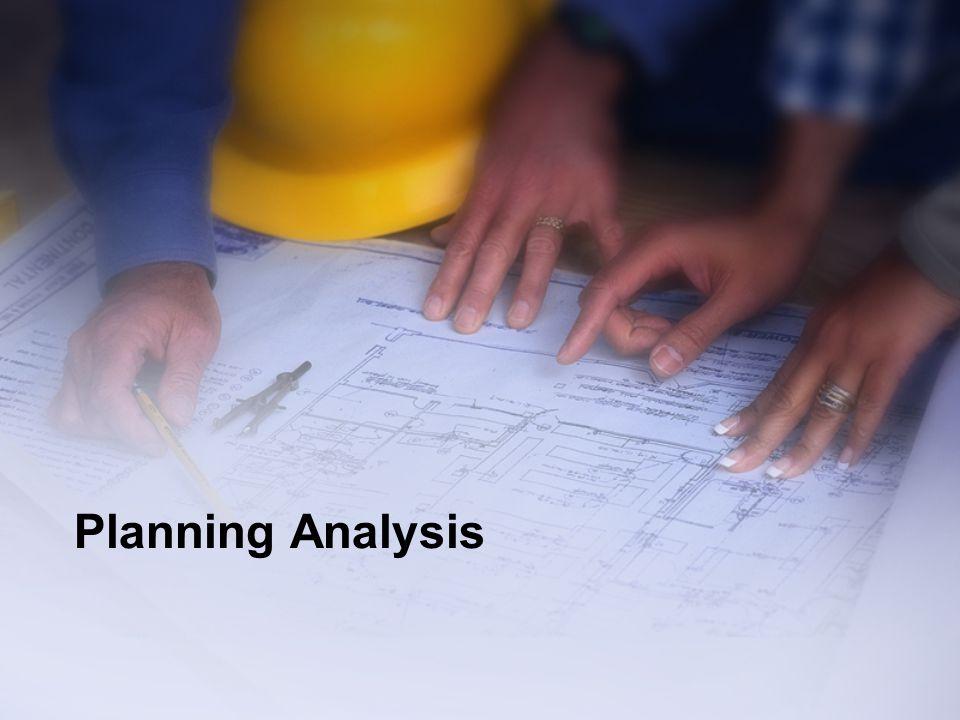 Planning Analysis