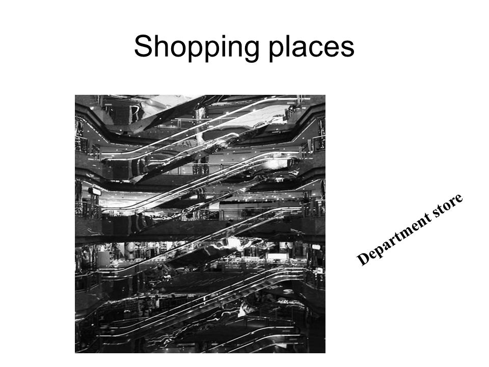 Shopping places Mall