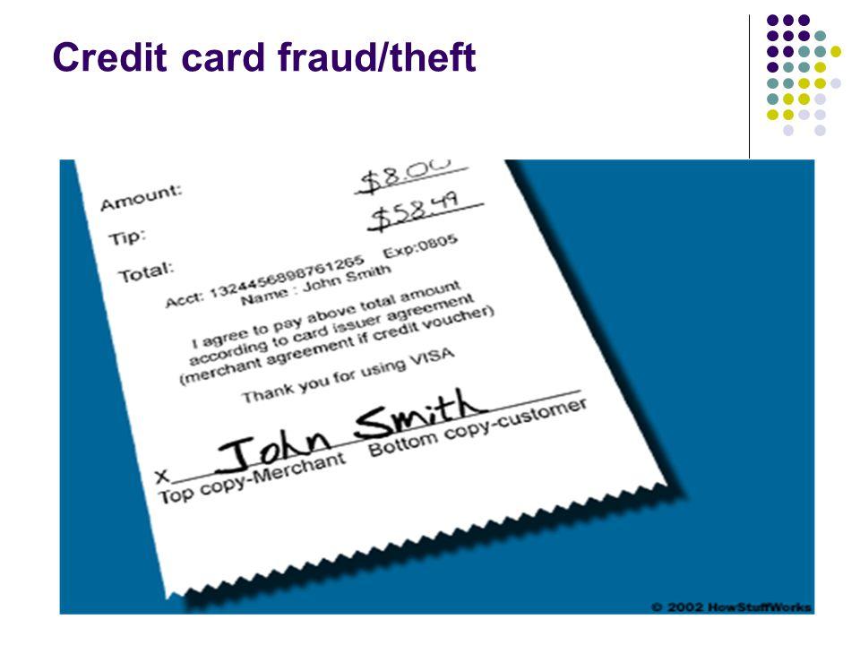 Credit card fraud/theft
