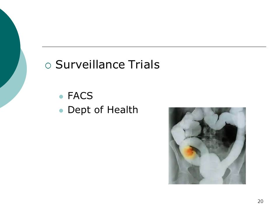 20  Surveillance Trials FACS Dept of Health