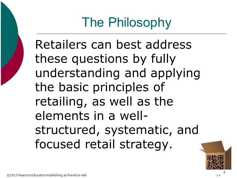 ©2013 Pearson Education Publishing as Prentice Hall 1-65 Benefits of Strategic Retail Planning Provides thorough analysis of the requirements for doing business for different types of retailers Outlines retailer goals Allows retailer to determine how to differentiate itself from competitors Allows retailer to develop an offering that appeals to a group of customers Offers an analysis of the legal, economic, and competitive environment Provides for the coordination of firm's total efforts Encourages anticipation and avoidance of crises