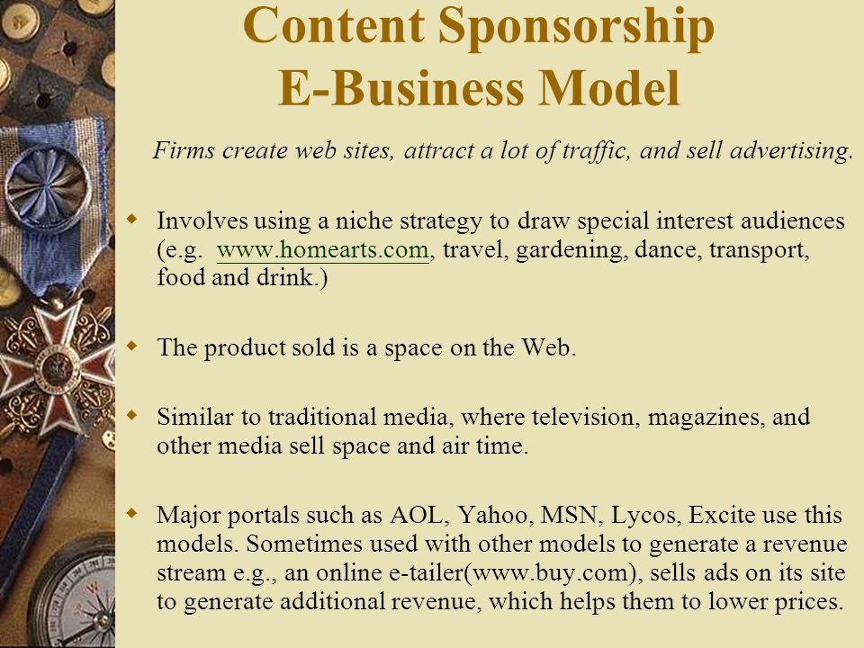 Direct Selling E-Business Model  Manufacturers sell directly to customers instead of using intermediaries.