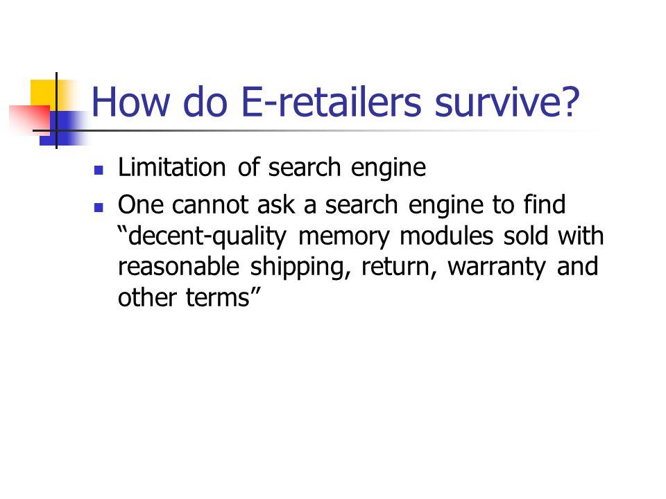 How do E-retailers survive.