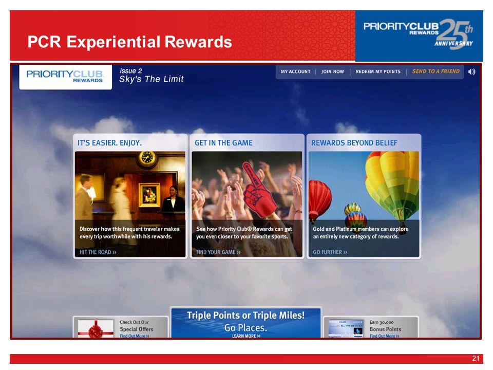 21 PCR Experiential Rewards