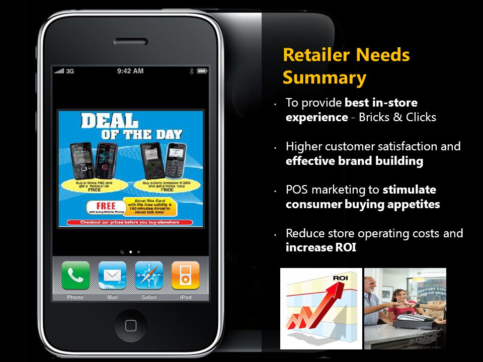 Retailer Needs Summary To provide best in-store experience - Bricks & Clicks Higher customer satisfaction and effective brand building POS marketing t