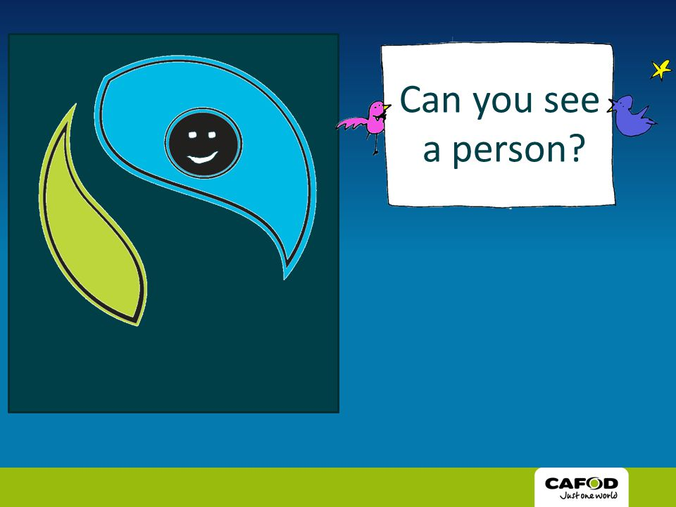 Can you see a person?