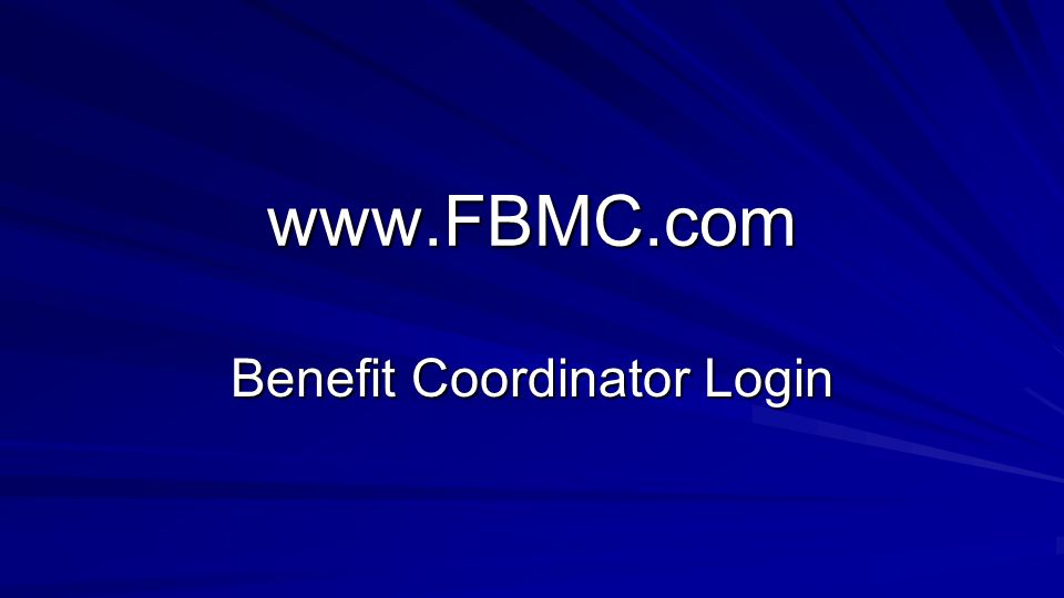 www.FBMC.com Benefit Coordinator Login