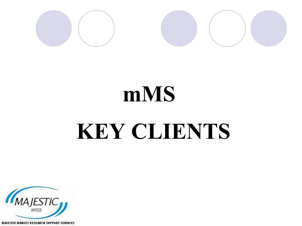 mMS KEY CLIENTS