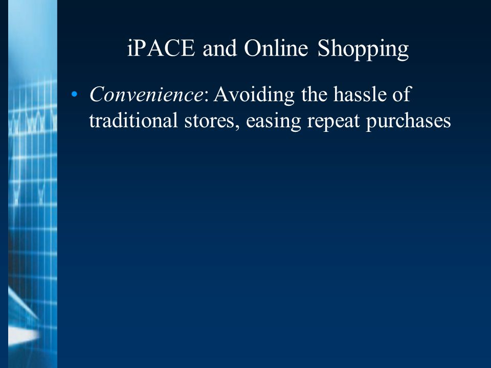 iPACE and Online Shopping Convenience: Avoiding the hassle of traditional stores, easing repeat purchases