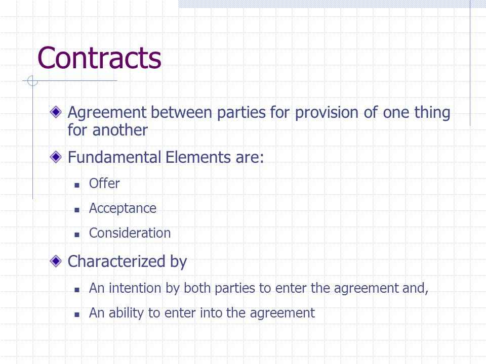 Contracts Consider the this situation: I promise to give you the Jetta.