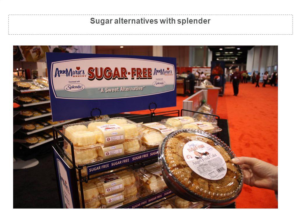 Sugar Free (just add splender) Sugar alternatives with splender
