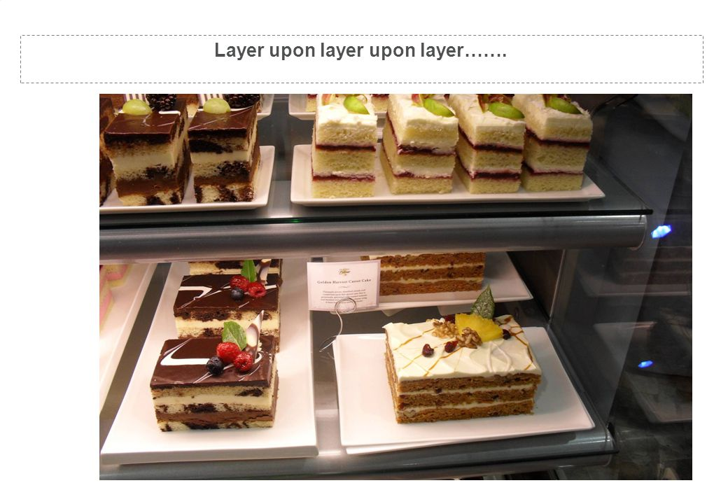 Layer upon layer upon layer…….