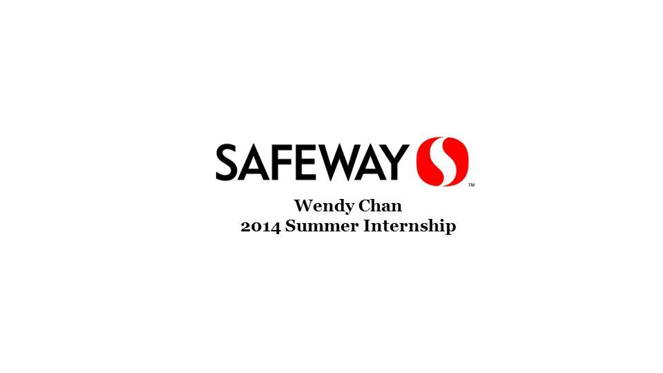 Wendy Chan 2014 Summer Internship