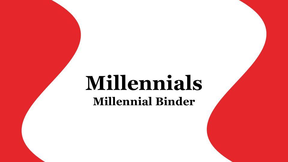 Millennials Millennial Binder