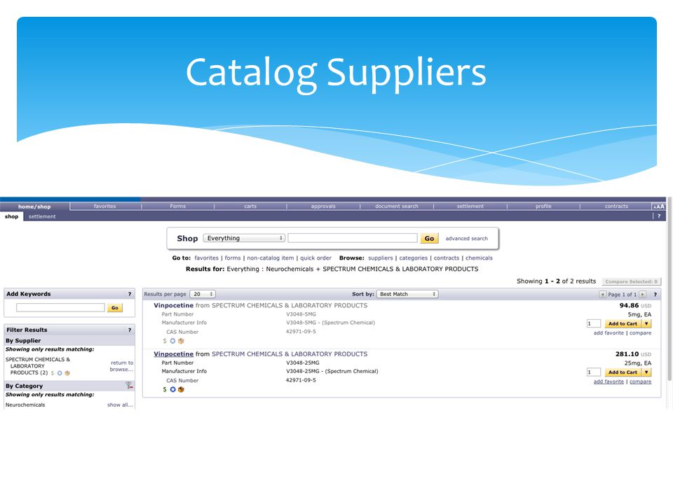 Catalog Suppliers