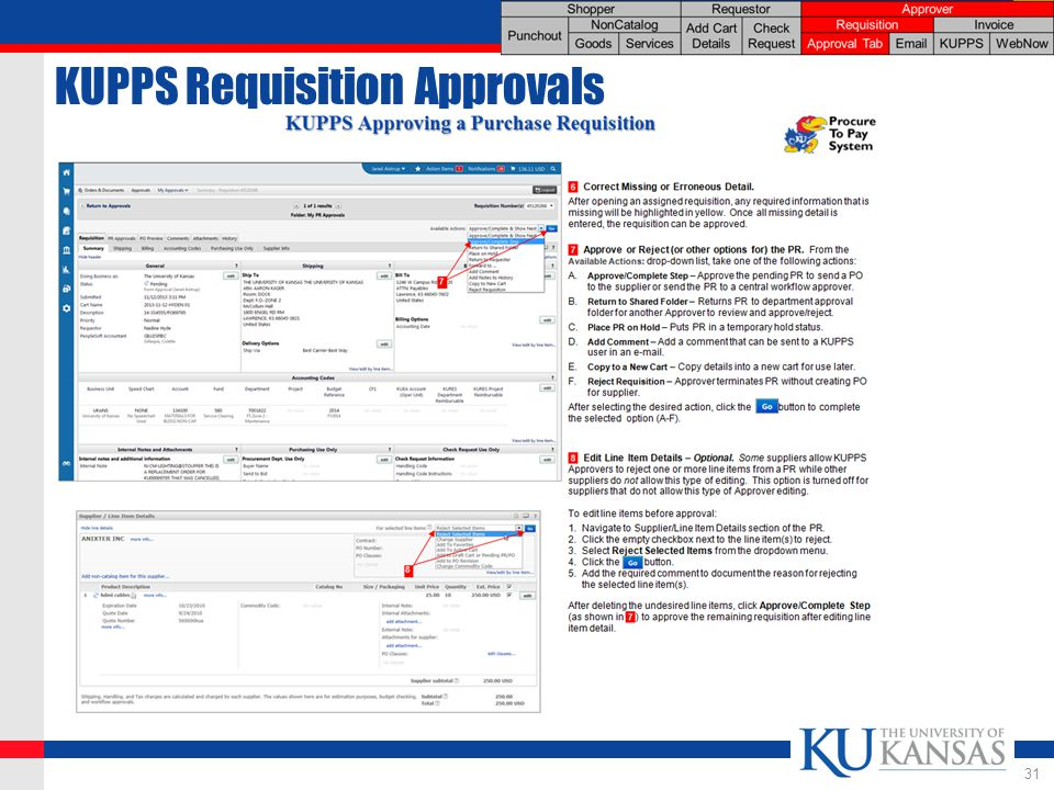 KUPPS Requisition Approvals 31