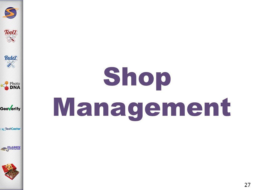 Shop Management 27