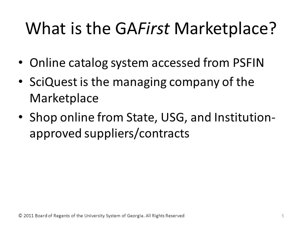 What is the GAFirst Marketplace.