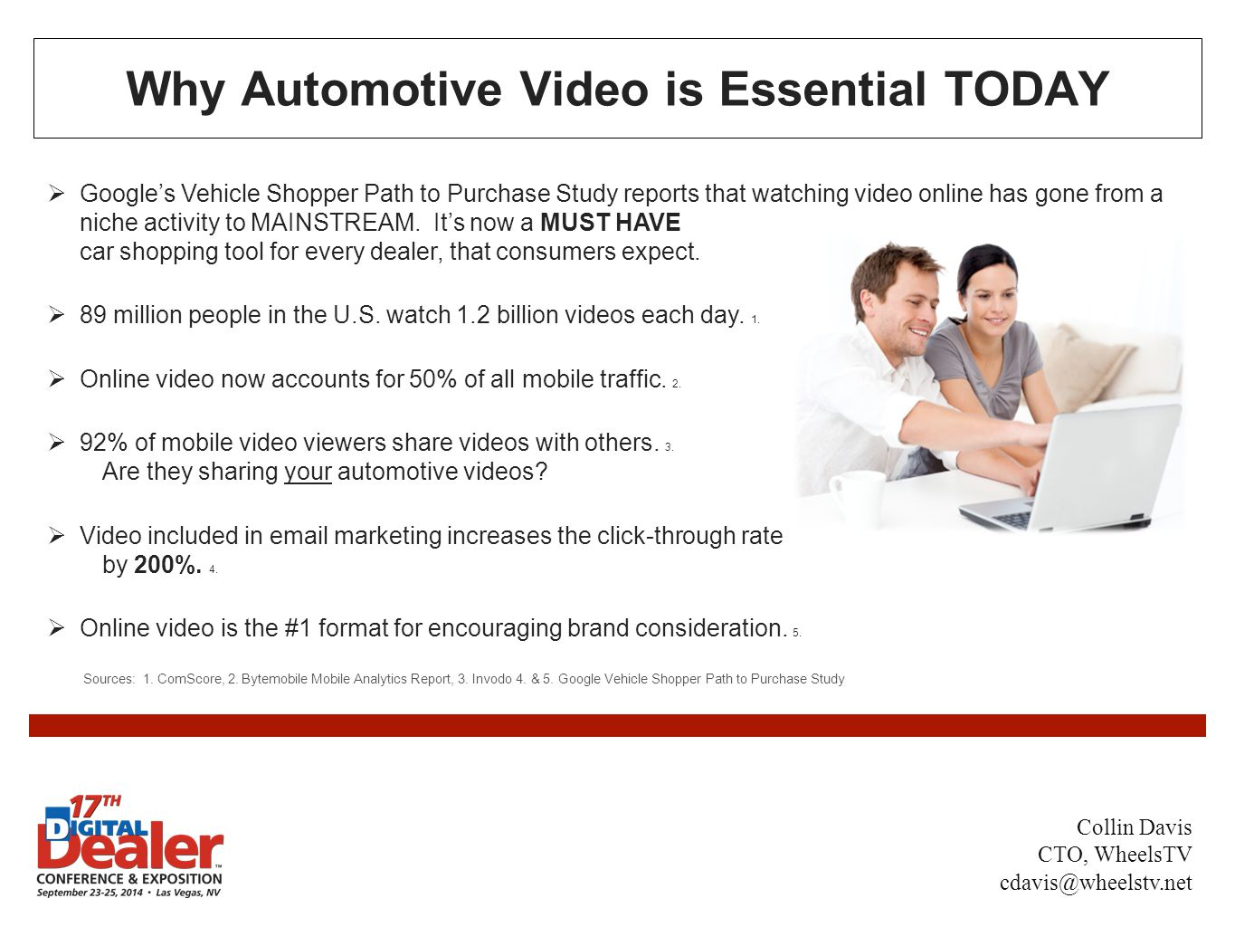 Why Automotive Video is Essential TODAY  Google's Vehicle Shopper Path to Purchase Study reports that watching video online has gone from a niche activity to MAINSTREAM.