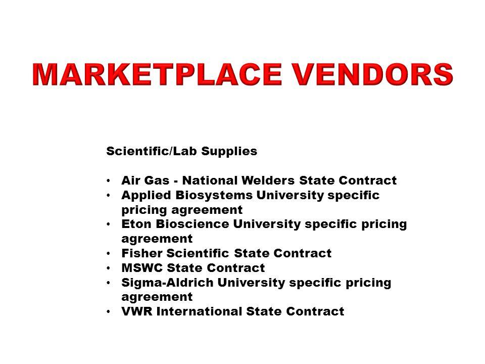 MarketPlace Vendors