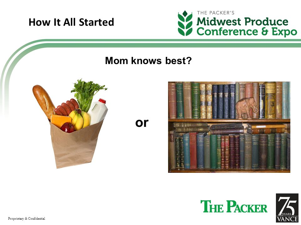 How It All Started Mom knows best or Proprietary & Confidential 44