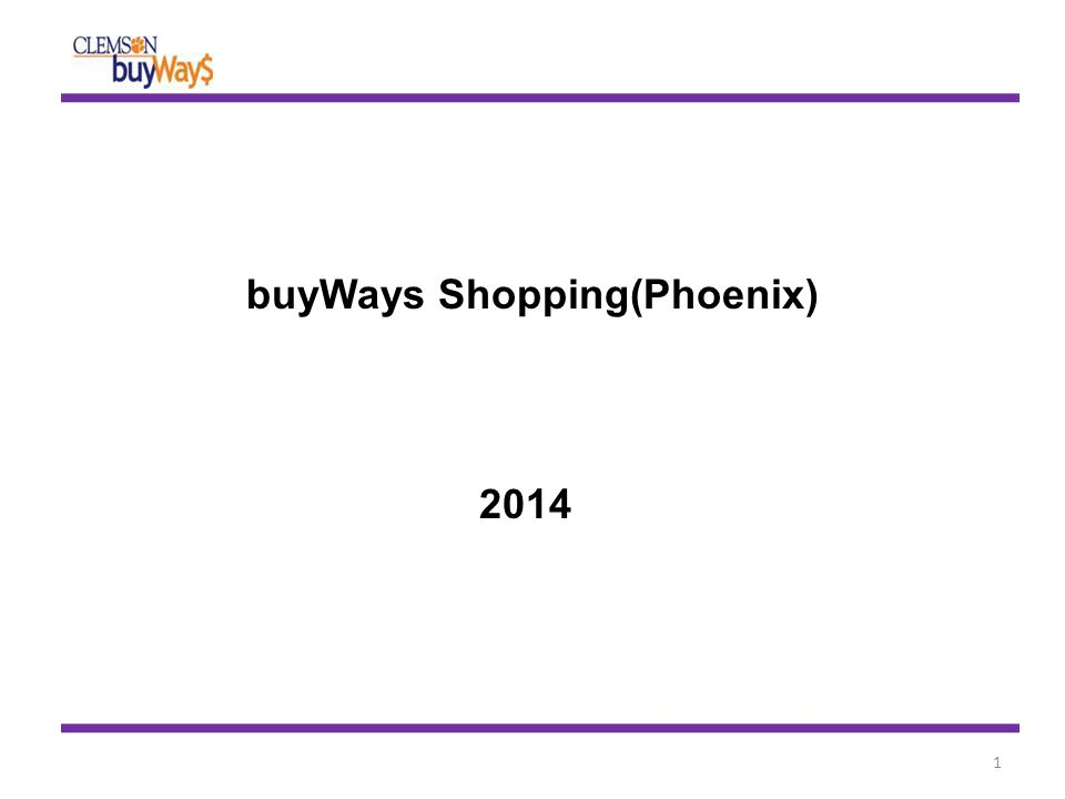 buyWays Shopping(Phoenix) 2014 1