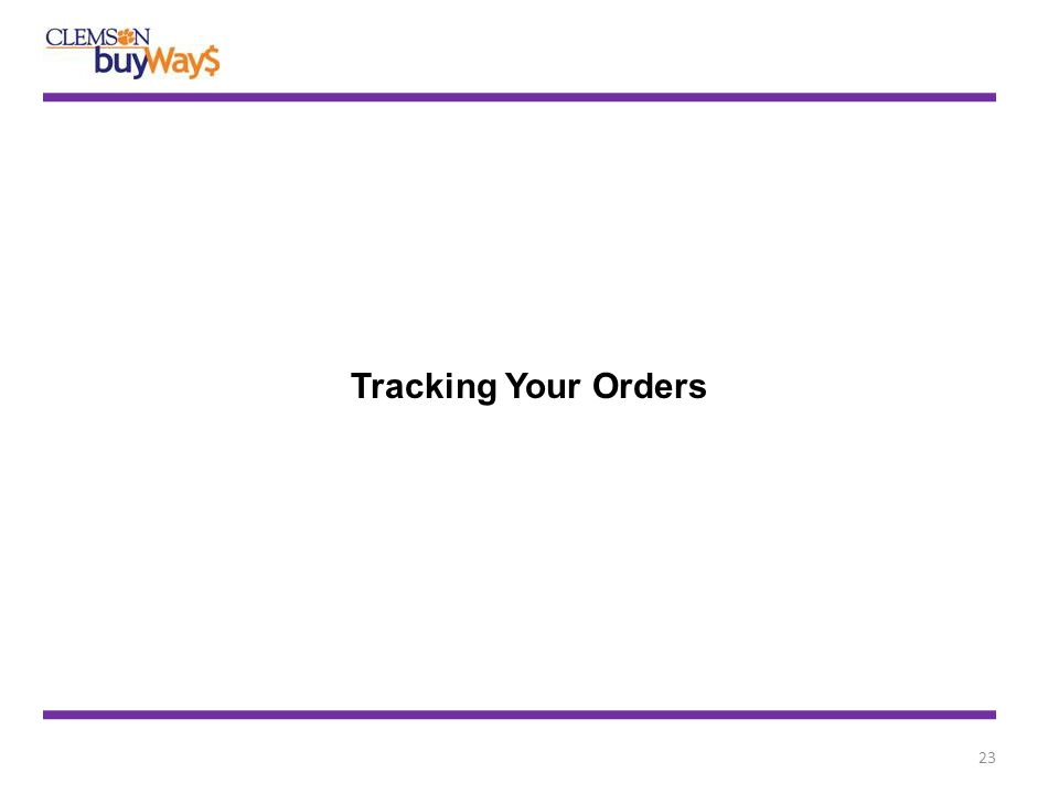 23 Tracking Your Orders