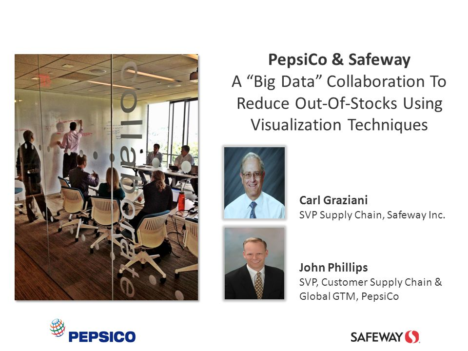 12 PepsiCo 360° Analytics Reveal D-Voids  Item-Store-Day Analysis  Planogram Compared To Sell-thru  Missing Items Identified  Potential Lost Sales Calculated PepsiCo & Safeway Resolve D-Voids  Jointly Develop DC Force-Shipments  Determine Which Products  Agree On Quantities Needed Filling Distribution Voids Through Scripted Replenishments P