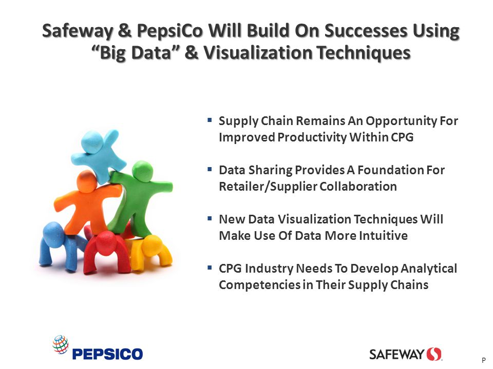 """33 Safeway & PepsiCo Will Build On Successes Using """"Big Data"""" & Visualization Techniques  Supply Chain Remains An Opportunity For Improved Productivi"""