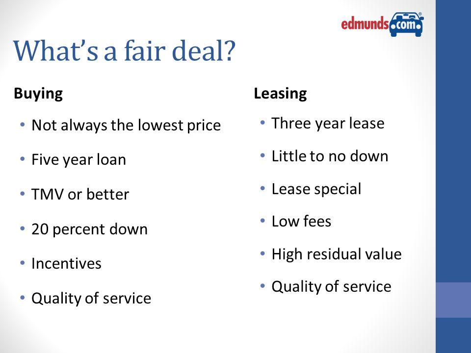 What's a fair deal.