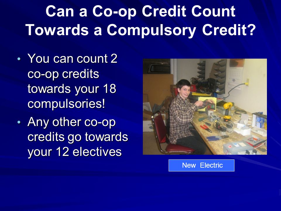 Can a Co-op Credit Count Towards a Compulsory Credit.