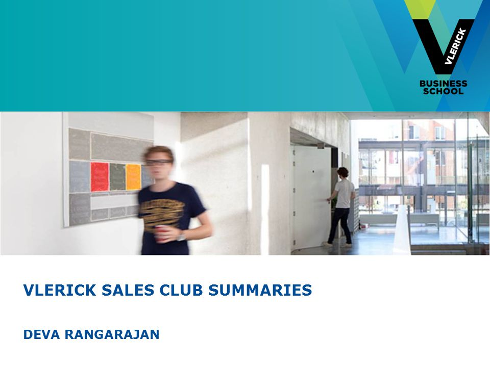 VLERICK SALES CLUB SUMMARIES DEVA RANGARAJAN