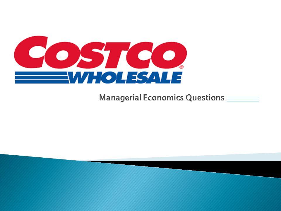 Managerial Economics Questions