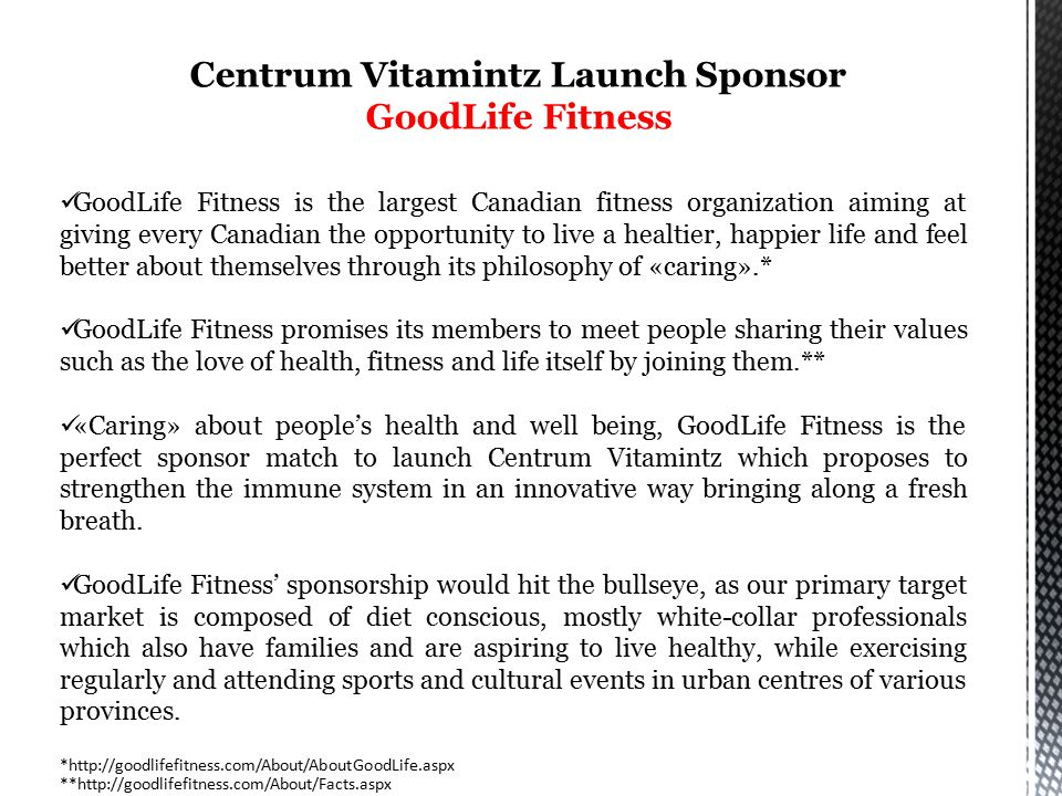 Integrated Marketing Communications Theme GoodLife Fitness healthfully asks: Did you have your Vitamintz Today?