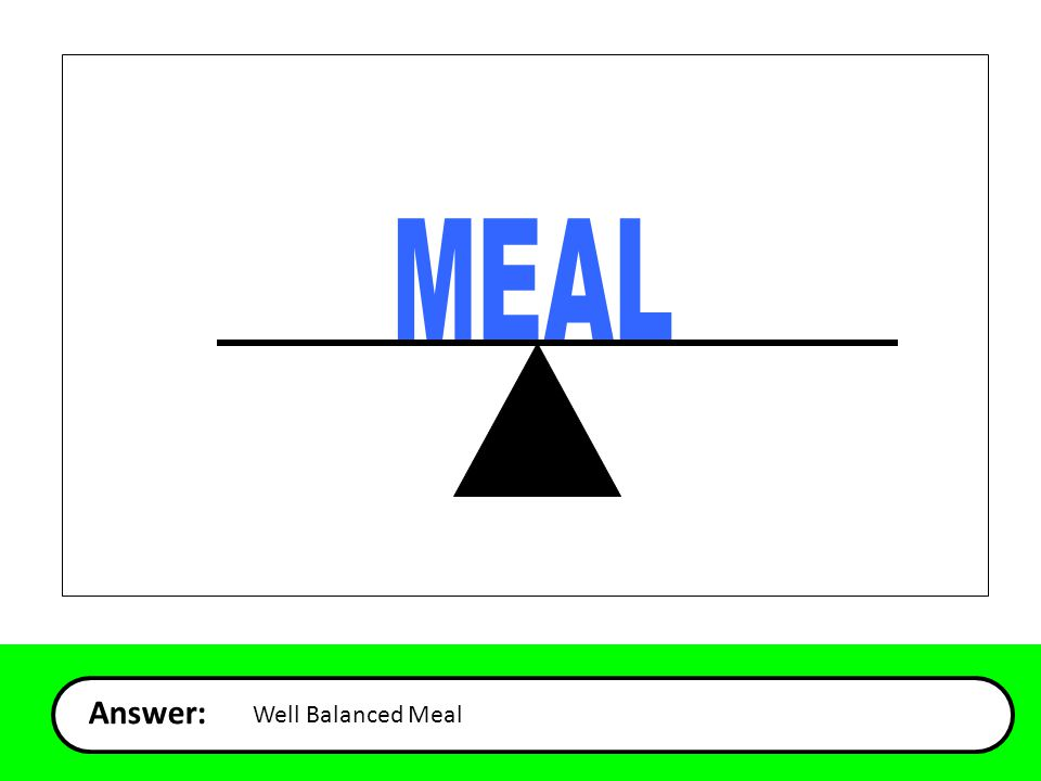 Answer: Well Balanced Meal