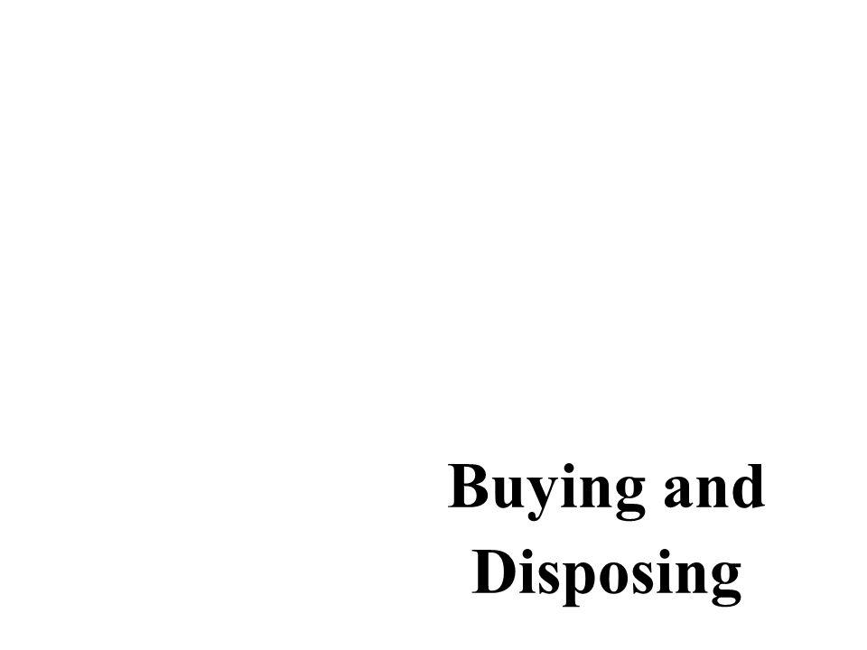 Buying and Disposing