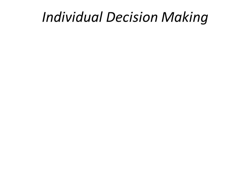 Individual Decision Making