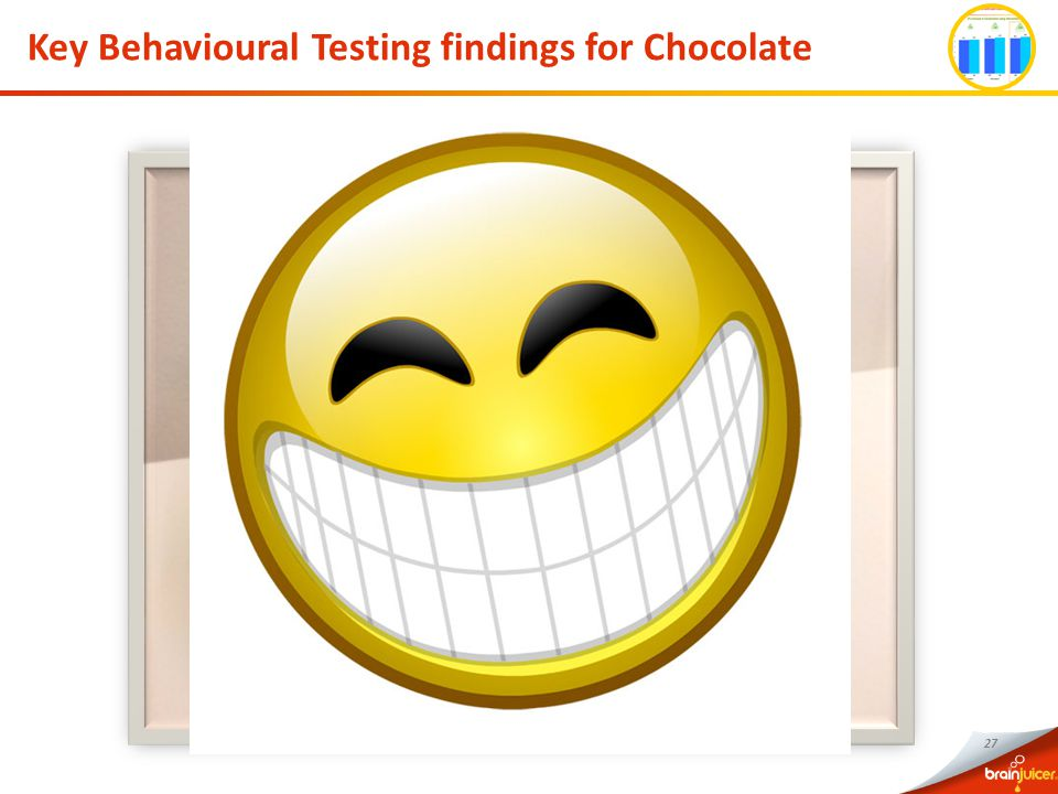 27 Key Behavioural Testing findings for Chocolate