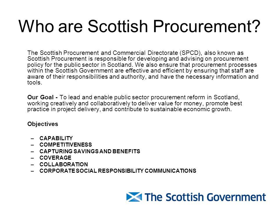 Who are Scottish Procurement.
