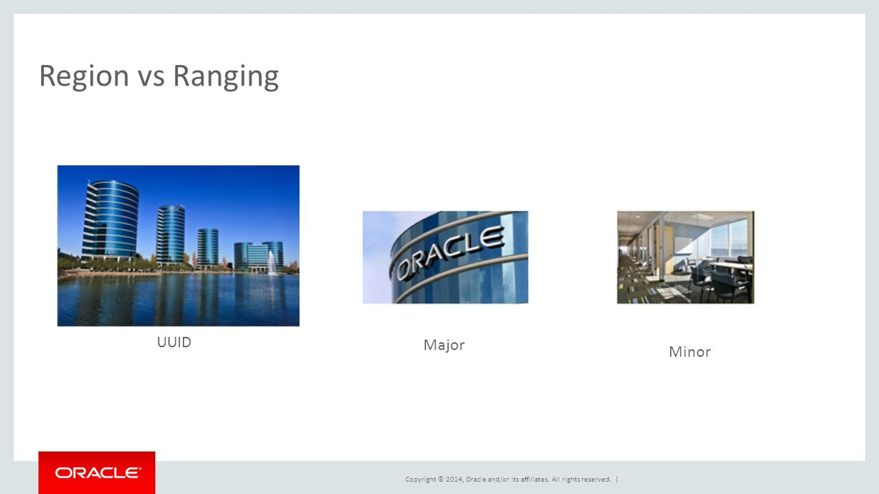 Copyright © 2014, Oracle and/or its affiliates. All rights reserved. | Region vs Ranging