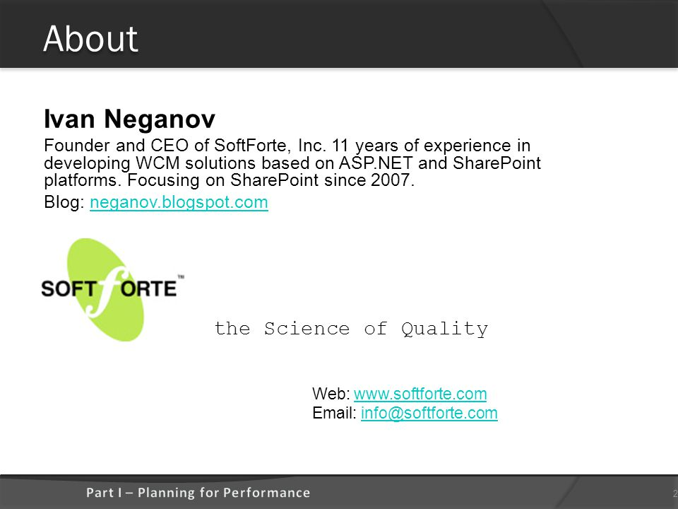 About Ivan Neganov Founder and CEO of SoftForte, Inc.